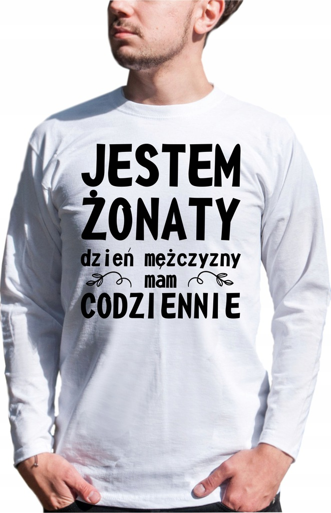 LONGSLEEVE JESTEM ŻONATY S M L XL XXL NADRUK