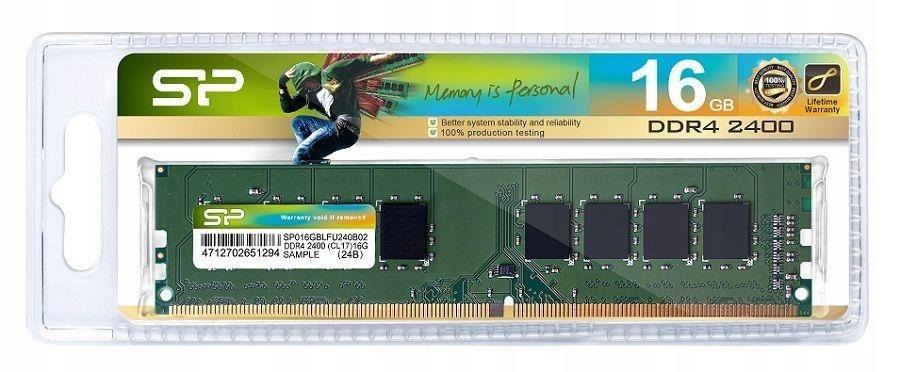 Pamięć DDR4 Silicon Power 16GB 2400MHz CL17 1,2V