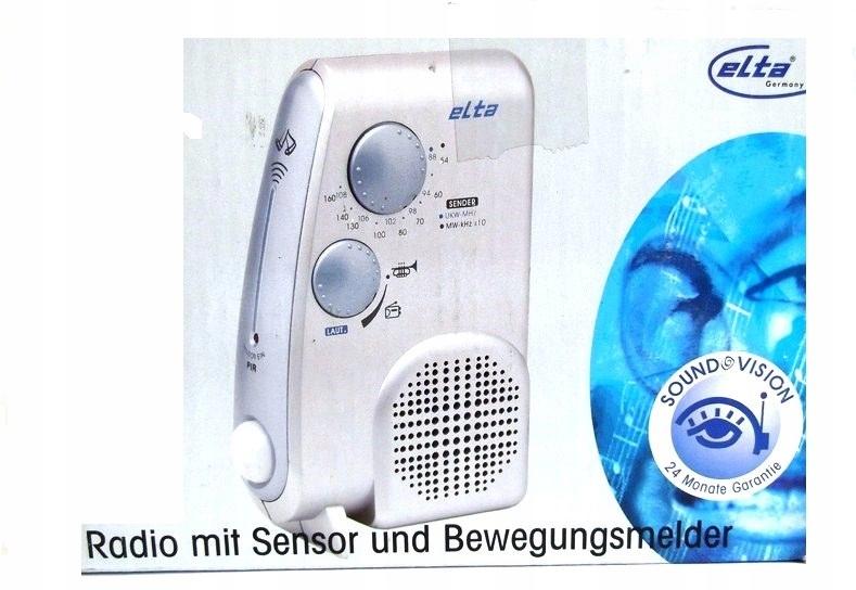 Alarm Elta 3645 Radio Fm Czujka Ruchu Garaz Taras 8531760911 Oficjalne Archiwum Allegro