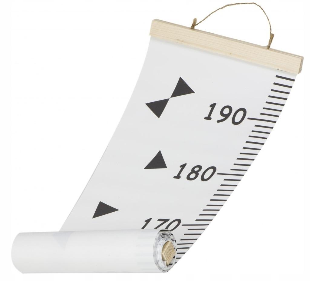 Miarka wzrostu płótno wisząca 20x200cm pogoda