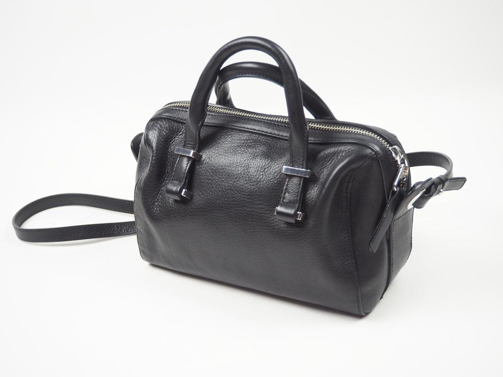 10 Massimo Dutti torebka kuferek czarna skóra