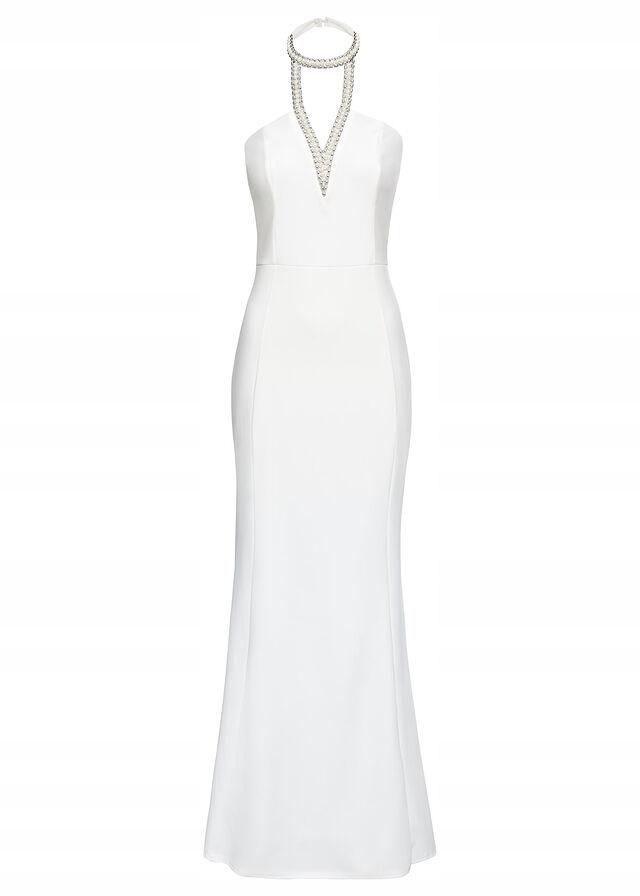 U321 BPC Sukienka wieczorowa z perełkami r.36/38
