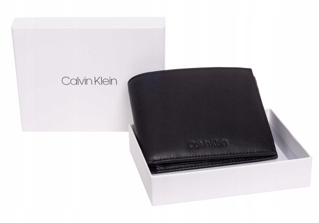 CALVIN KLEIN PORTFEL MĘSKI VITAL 5CC W/ COIN BLACK