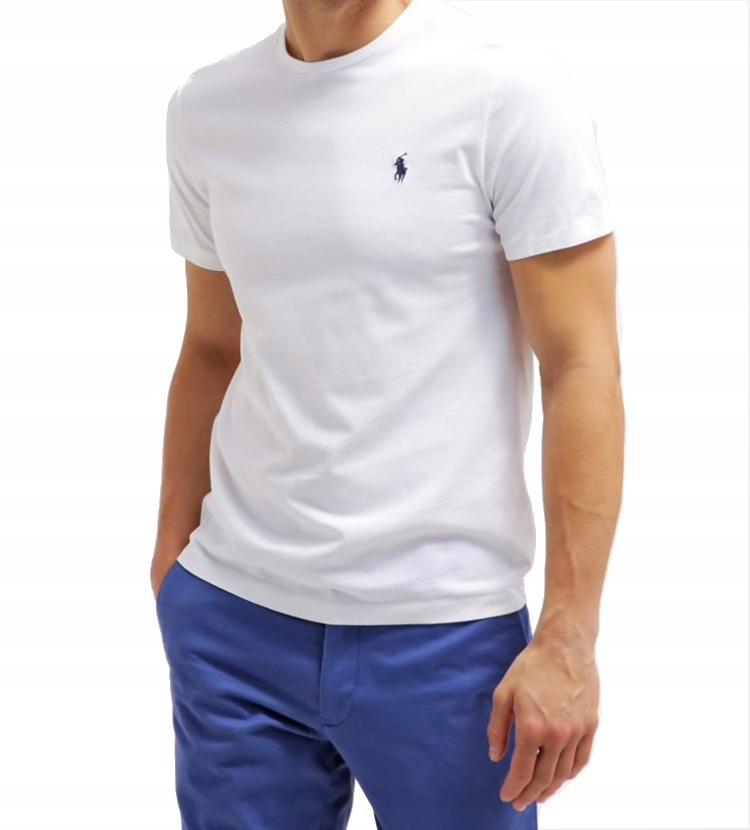 RALPH LAUREN T-Shirt Koszulka MĘSKA BIAŁA- XL