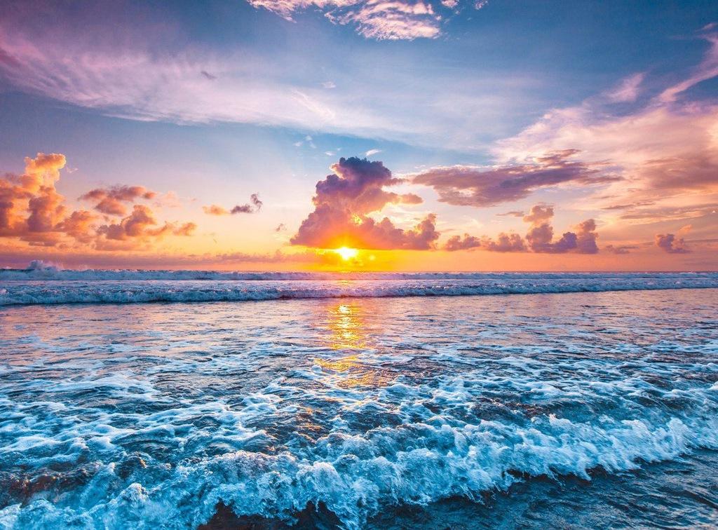 Fototapet Ocean Sunset Beach (300 x 223 cm)