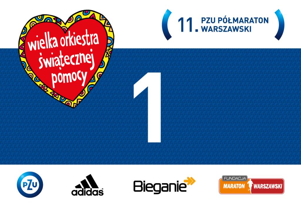 11. PZU Półmaraton Warszawski - numer startowy 1!