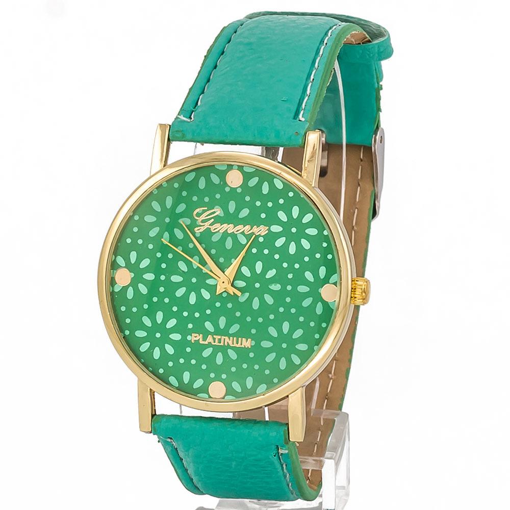 Zegarek ażur zielony