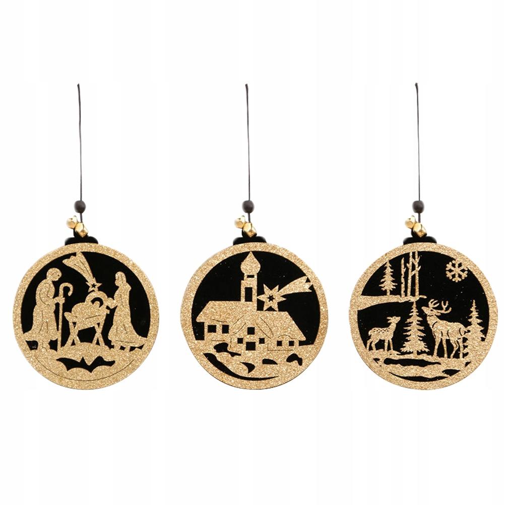 3szt Świąteczne dekoracje DIY Wiszący wisiorek dre