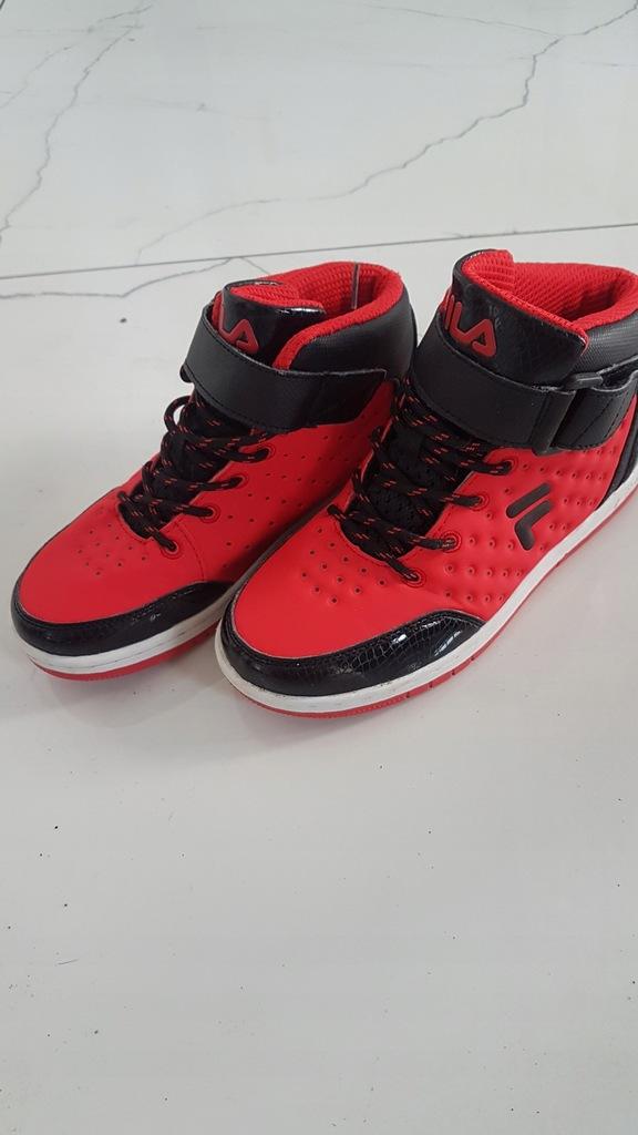 Buty Fila 35 czerwone jak nowe okazja chlopiec