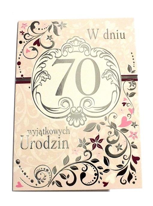 Kartka 70 Urodziny 70 Lat życzenia Eleganckie