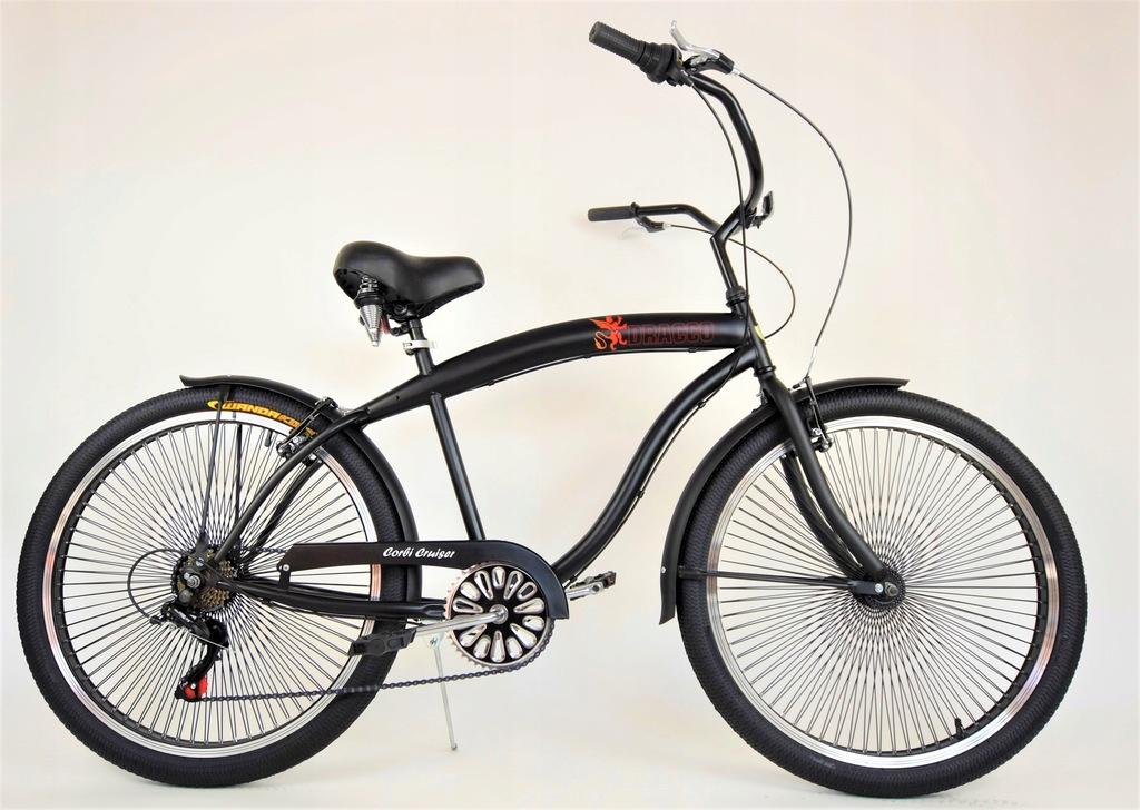 Rower miejski CRUISER! Rama 19' Super Wygodny!!!
