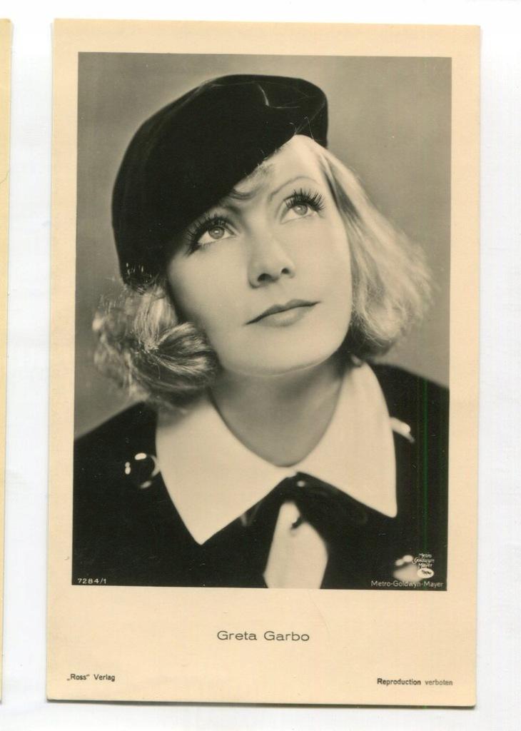 Greta Garbo Kino Film Aktorka Foto Pocztówka 20