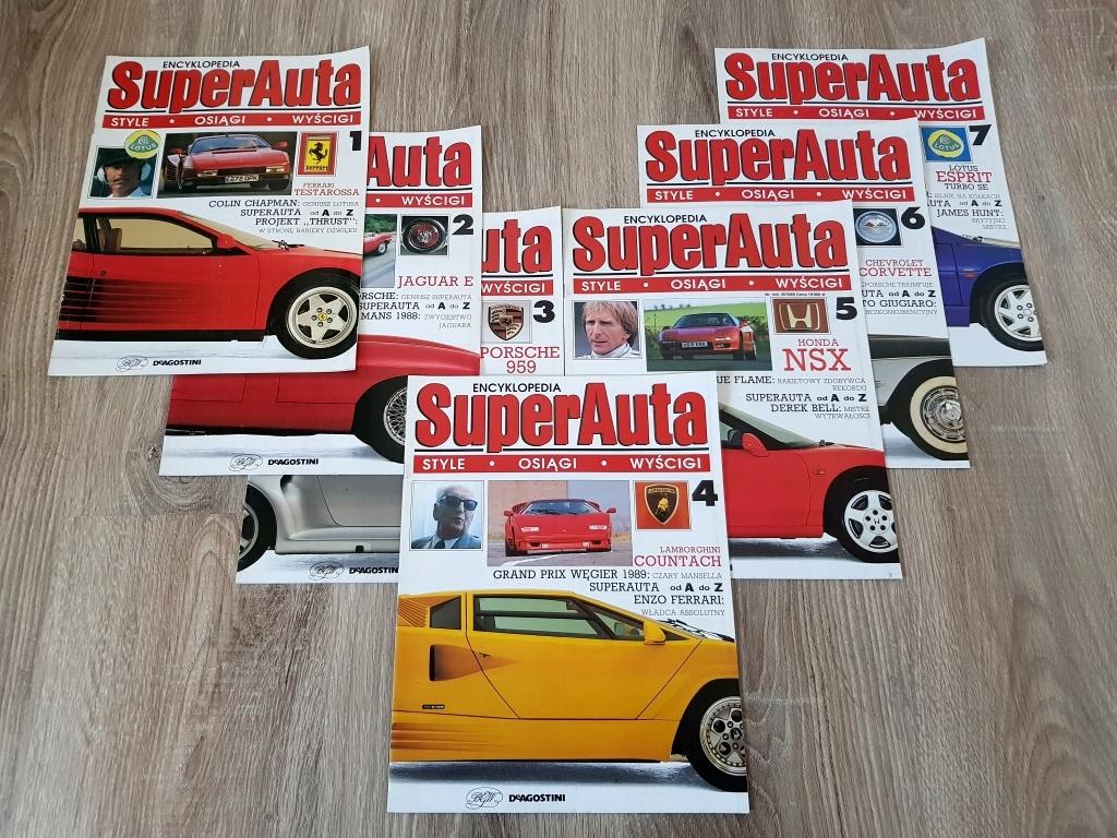 Encyklopedia Super Auta BGW - 7 numerów - komplet