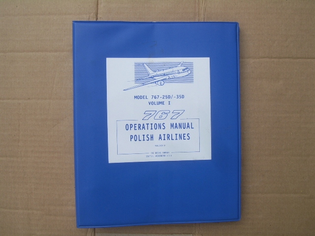 Boeing 767 Operations Manual Polish Arlines Lot
