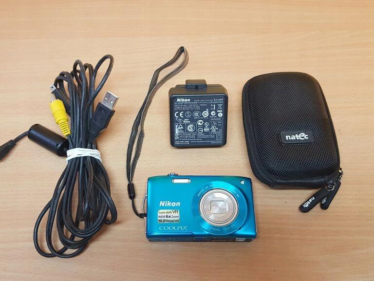 APARAT NIKON COOLPIX S3300 16 MPX + ETUI/ŁAD