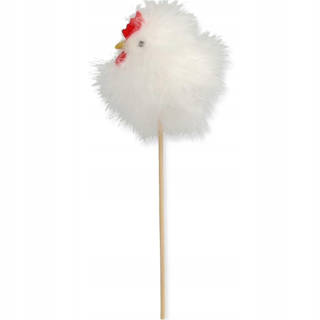 Kurczak wielkanocny biały na piku 20 cm