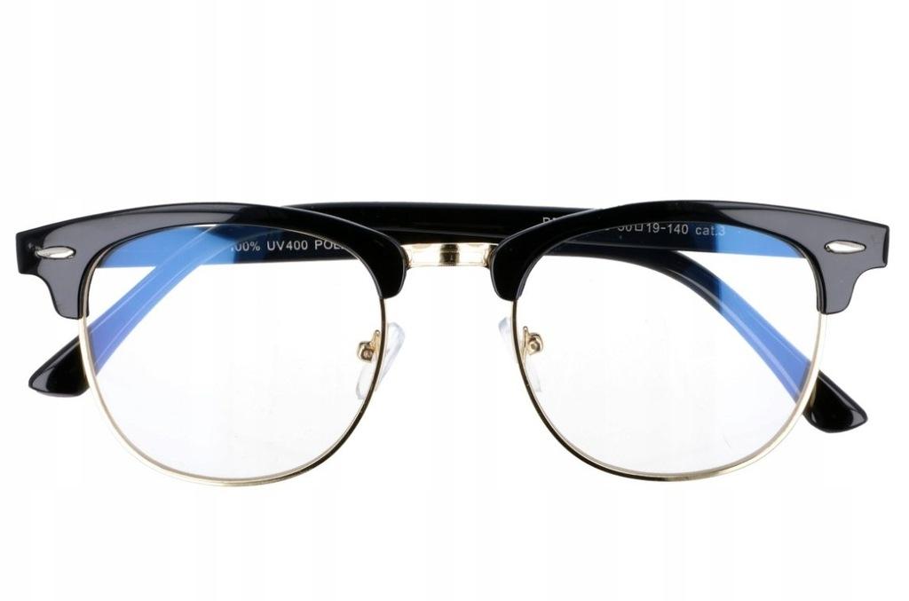 Półramki Okulary z Antyrefleksem Zerówki Unisex