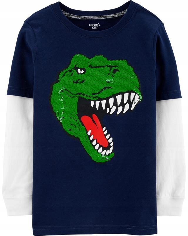 Carter's Koszulka z dinozaurem cekiny 7 122