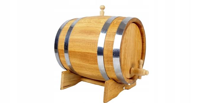 Beczka dębowa 30 L na bimber whisky kran drewniany