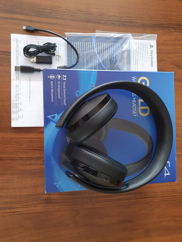 Headset Sony PS4 Gold -black BCM
