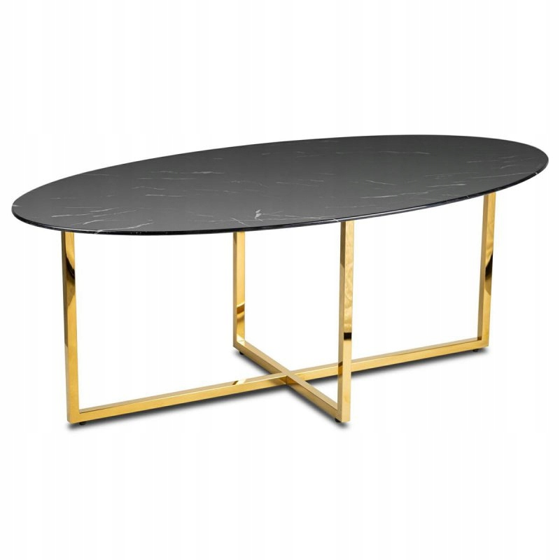 Stolik kawowy Vertigo Gold Black 120 cm