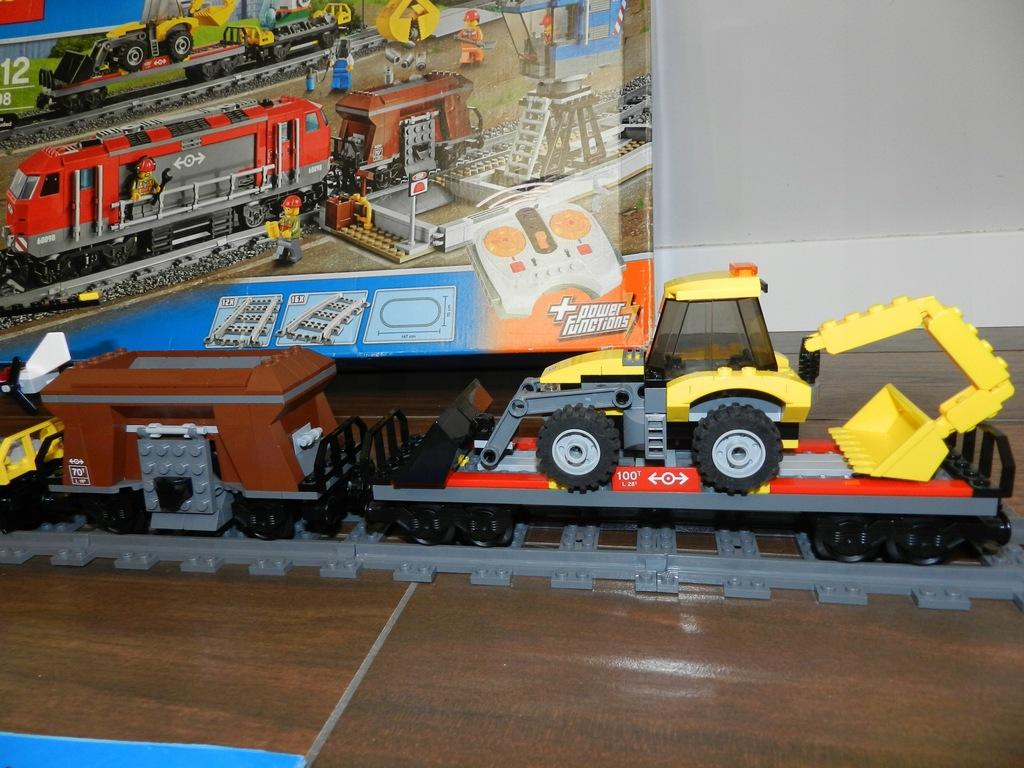 LEGO City 60098 + 7499 Pociąg+ Dodatkowe Tory