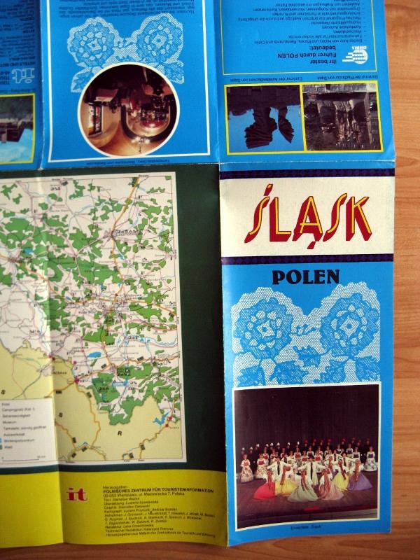 Stary plan informator turystyczny Śląsk 199x niem.