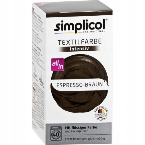 Brąz Espresso barwnik do tkanin Simplicol