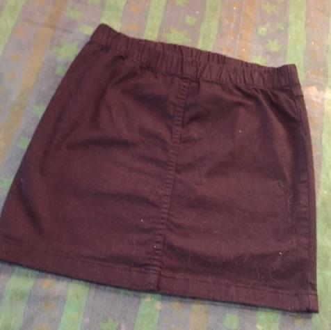 Spódnica mini prążki sztruks bordowa 36(S) Asos