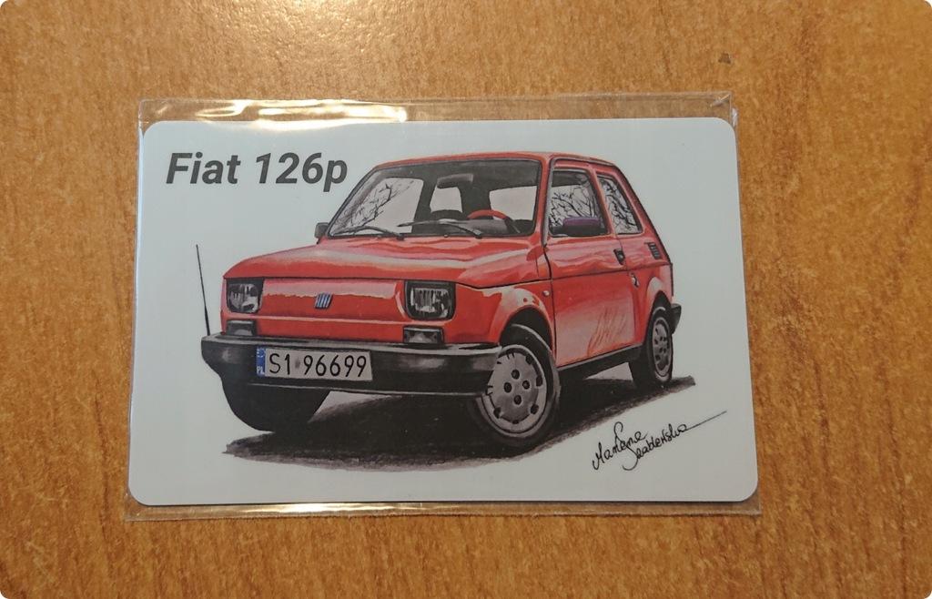 Seria Klasyki PRL Telegrosik 5 Kart Fiat Polonez..