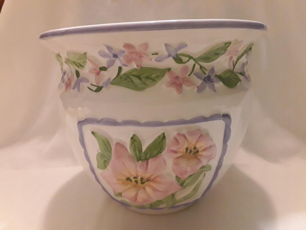 Doniczka osłonka pojemnik lilie ceramika