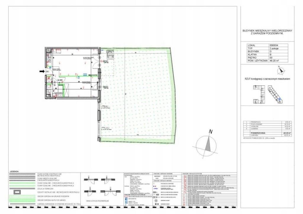 Mieszkanie Pruszków, pruszkowski, 46,20 m²