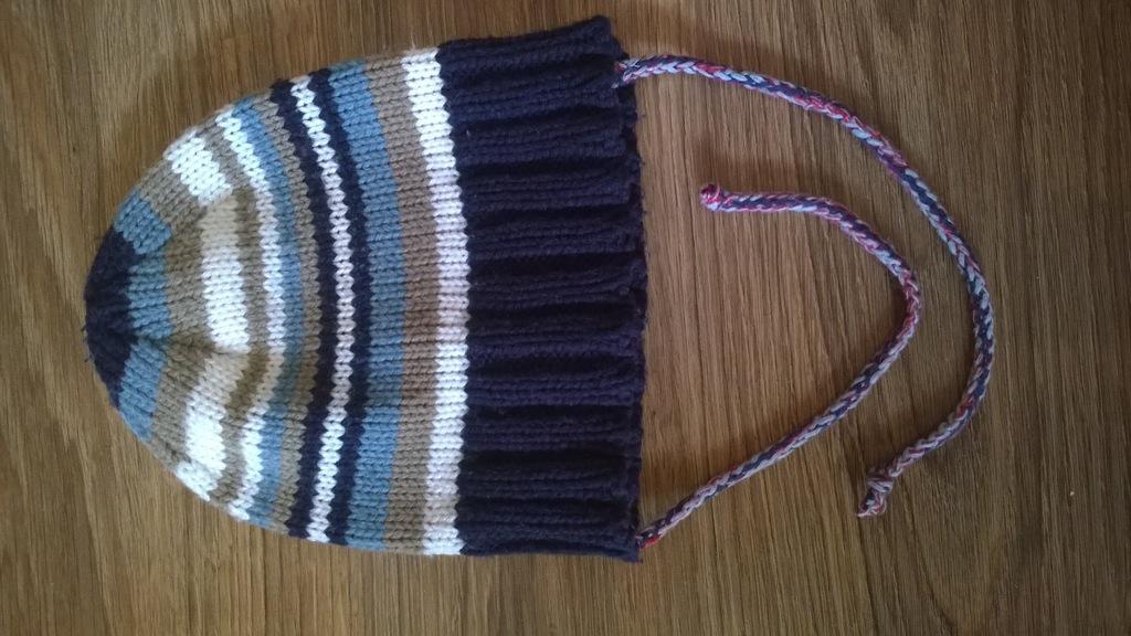 czapka ze smyka r.52 bdb jesienno-zimowa