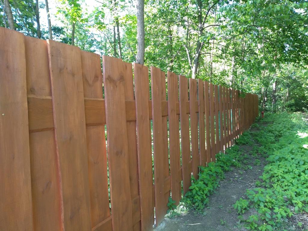 Drewniany Płot z desek szeroki 2 m x 2m