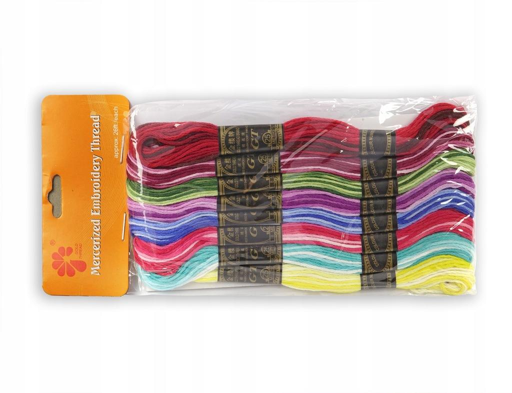 mulina cieniowana nici do haftu 8m 8 kolorów
