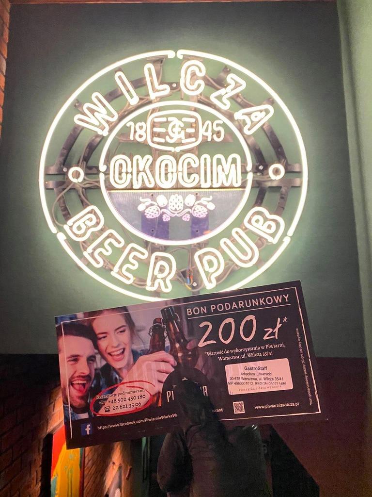 Bon 200 zł wydaj w Wilcza Okocim Grill&Bar