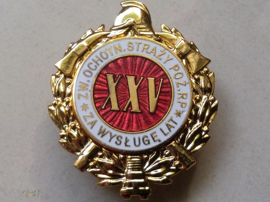 Odznaka Za Wysługę XXV Lat w OSP - od 1997 r.