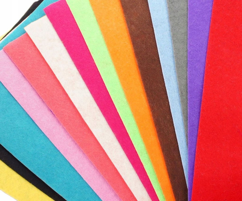 20szt kolorowe arkusze filcu poliestru tkaniny