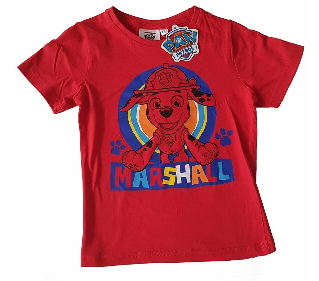 Psi Patrol koszulka t-shirt bluzka red 104 4 L