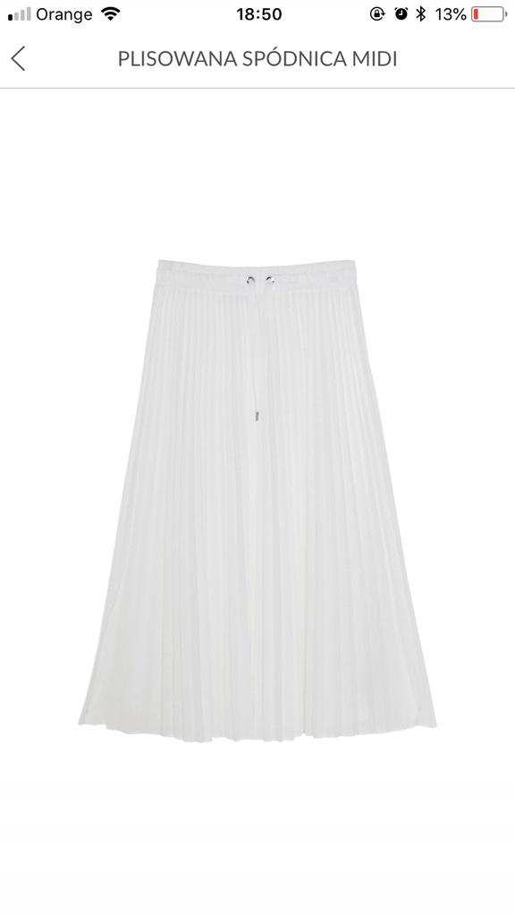 Biała plisowana Spodnica massimo dutti m 8245710320