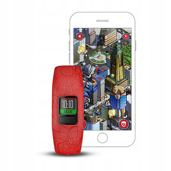 GARMIN opaska VivoFit JUNIOR 2 SPIDER-MAN CZERWONY