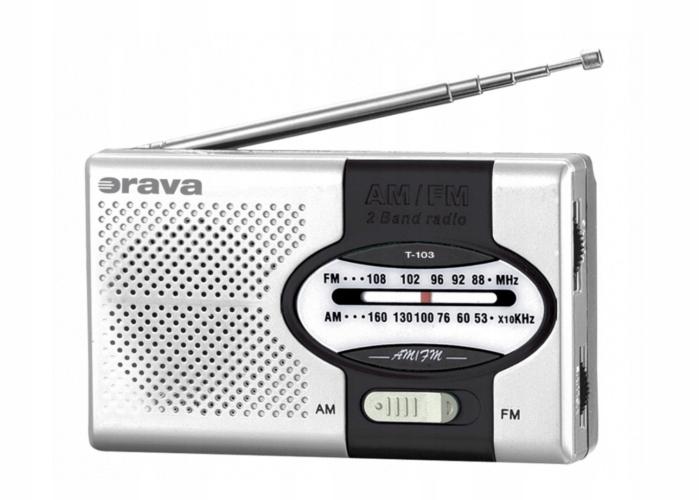 PRZENOŚNE RADIO KIESZONKOWE AM/FM T-103 ORAVA
