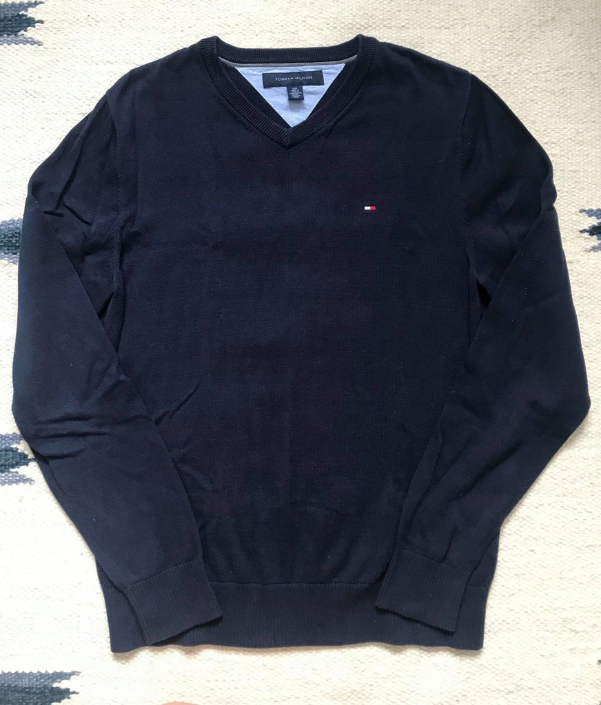 TOMMY HILFIGER BRĄZOWY SWETER S