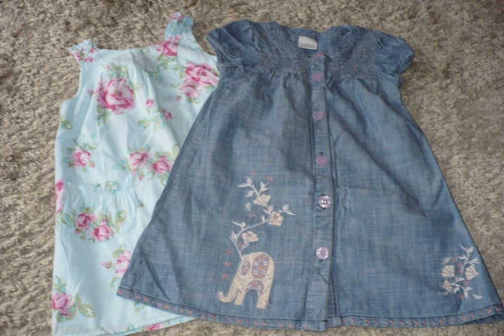 NEXT 2 sukieneczki 98 2-3l