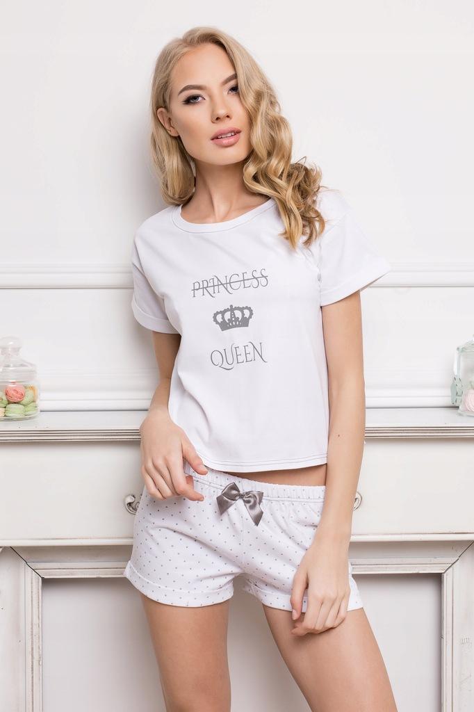 Piżama Princess Queen Short Dots & White