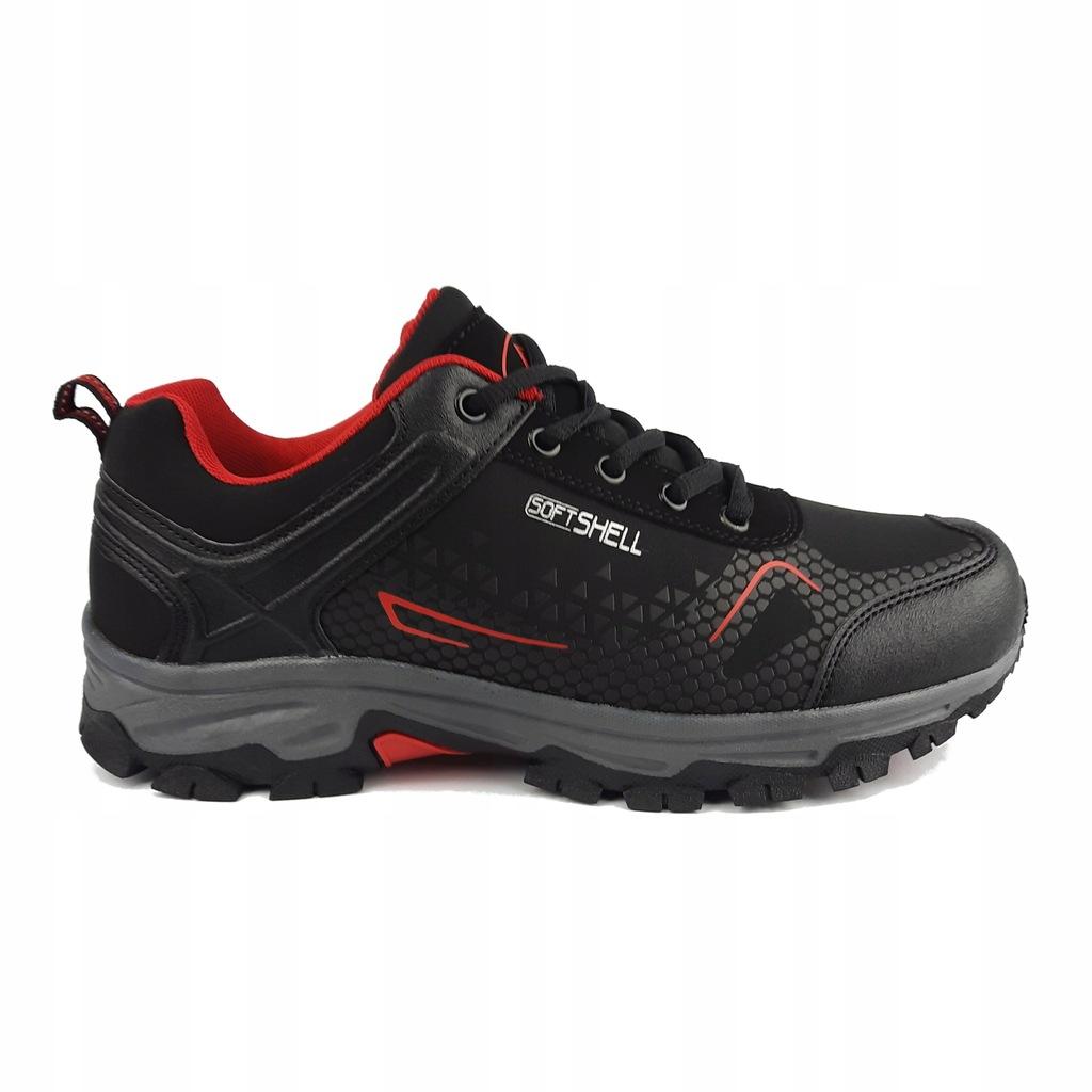 Buty trekkingowe SOFTSHELL Czerwony A2001-3 (44)