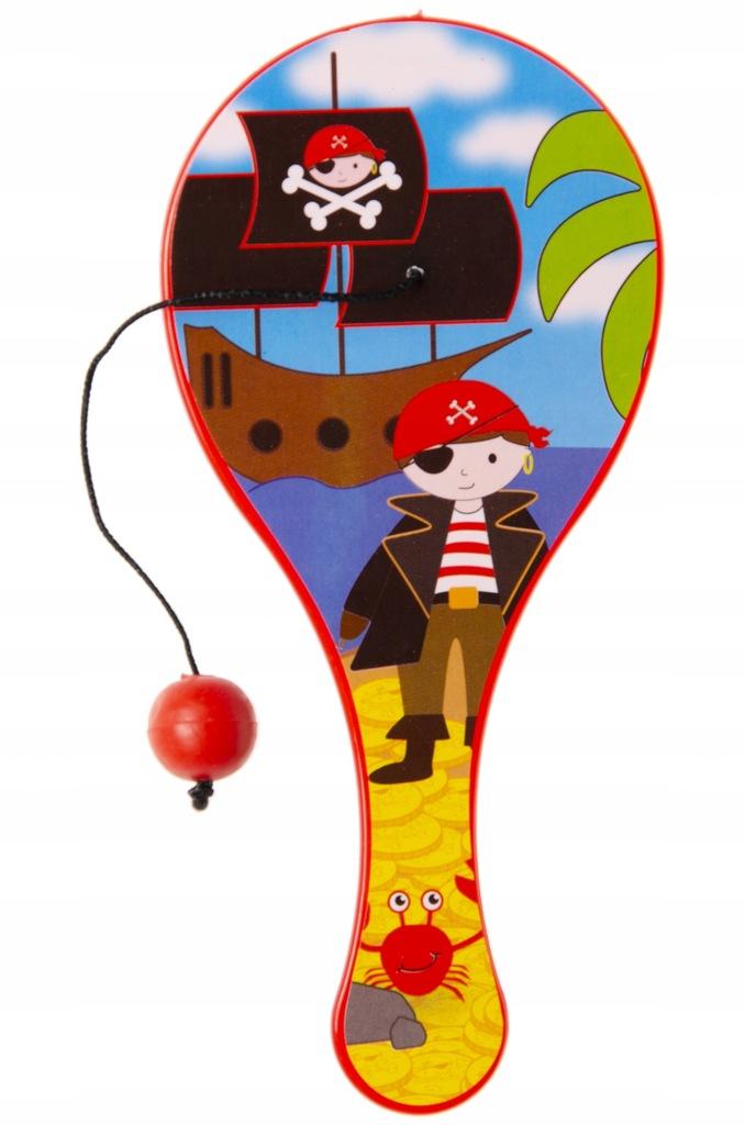 LG Imports wiosło z piłką piratów 12 cm czerwony