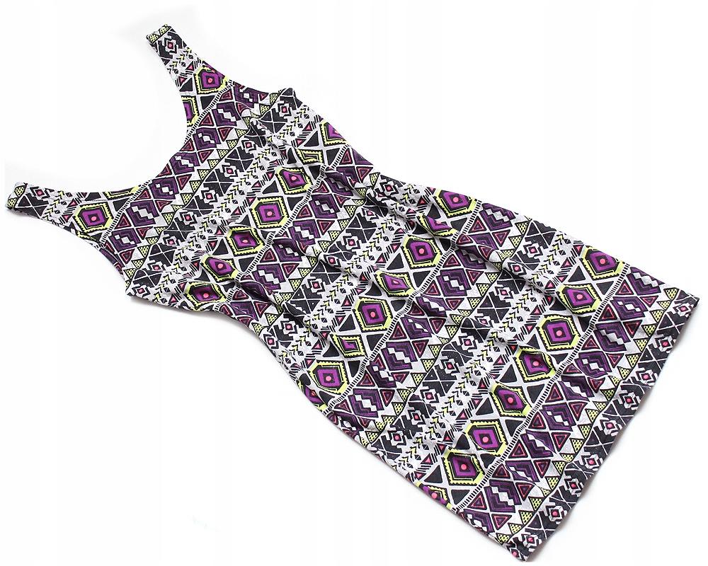 H&M Bandażowa Sukienka Mini WZÓR AZTEC 38/M/L