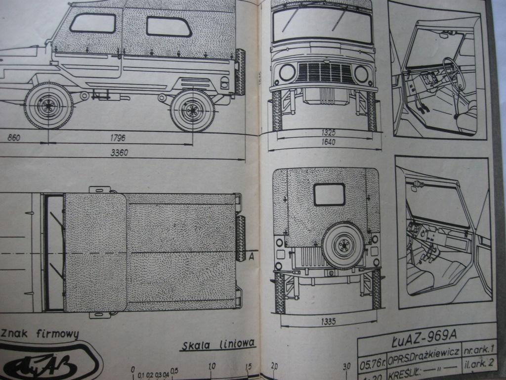 MODELARZ Samochód terenowy UAZ 969 Plan 1976