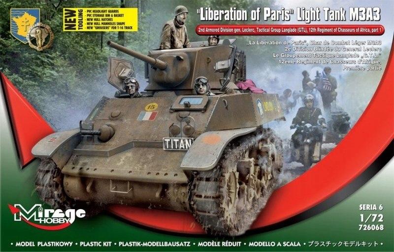 Model plastikowy Stuart M3A3 Wyzwolenie Paryż